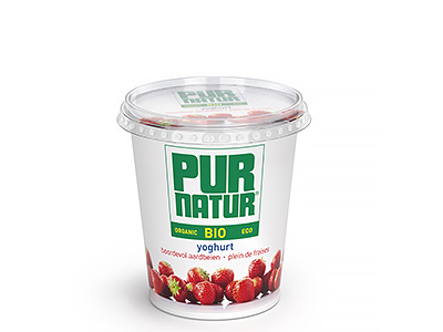 Pur Natur Fruit yogurt full of strawberries 700g