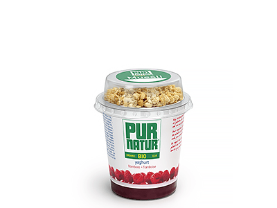 Raspberry natural organic yogurt with muesli 160g from Pur Natur