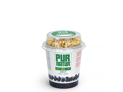 Blueberry natural organic yogurt with muesli 160g from Pur Natur