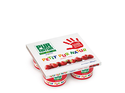 Petit Pur Natur strawberry 4x115g