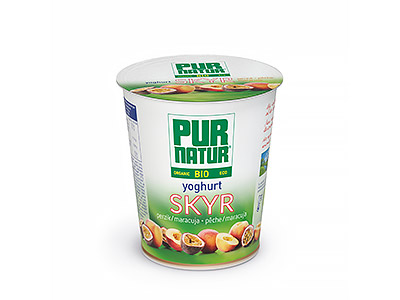 Pur Natur low-fat Skyr yogurt peach-maracuja